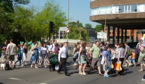 Guildford's busy Puffin crossing